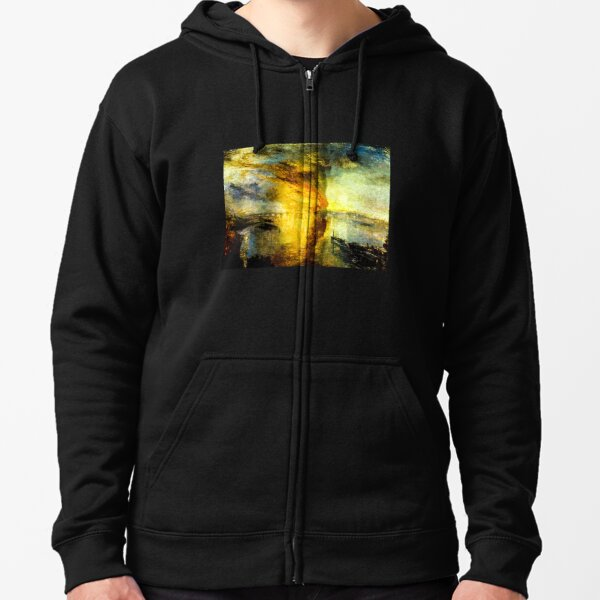 The Burning of the Houses of Parliament by J. M. W. Turner Zipped Hoodie