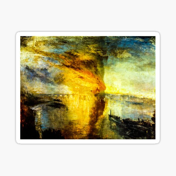 The Burning of the Houses of Parliament by J. M. W. Turner Sticker