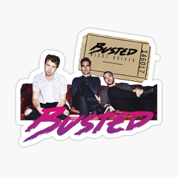 Busted Night Driver Tour Sticker