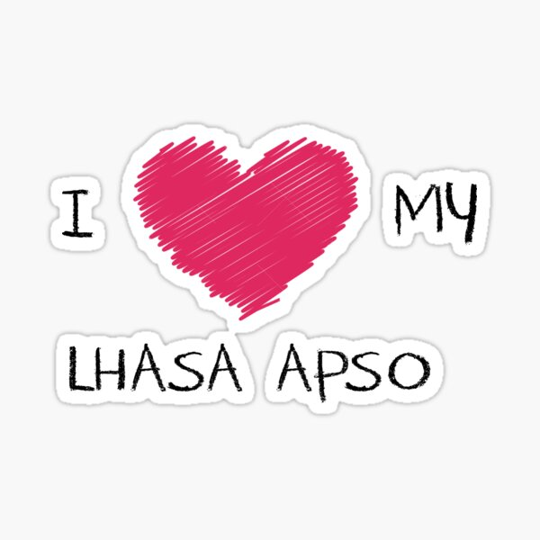 I Love My Lhasa Apso Heart Shirt For Dog Lovers Sticker