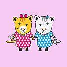 Miss Maple and Miss Neko by samedog