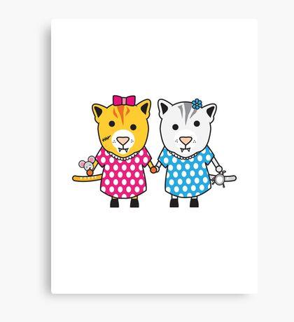 Miss Maple and Miss Neko Canvas Print