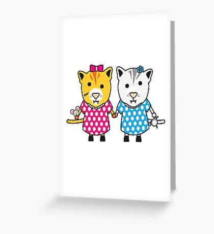 Miss Maple and Miss Neko Greeting Card