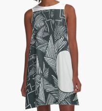 Stromaufwärts A-Linien Kleid