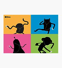Adventure Time Bmo's Campaign (Apple iPod Parody). Photographic Print