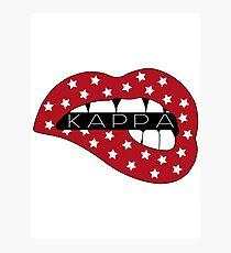 Kappa American Lips Photographic Print
