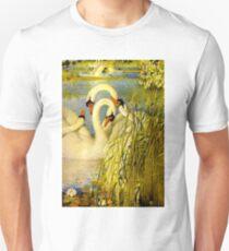 SWANS; A Vintage Painting Print Unisex T-Shirt