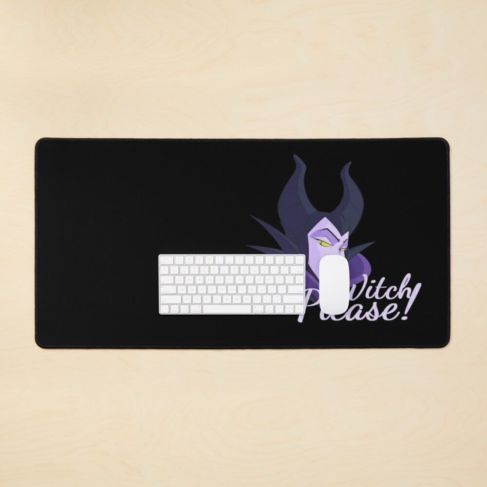 Witch Please! - Halloween Maleficent Mouse Pad