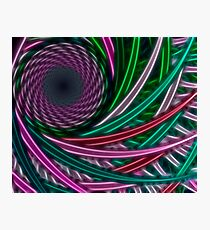 Fractal illustration chaos lines, circles Photographic Print