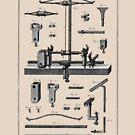 Diderot 18th Century Print - Tourneur - Lathe Turner by toolemera