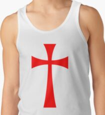 Long Cross - Knights Templar - Holy Grail - The Crusades Tank Top