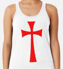 Long Cross - Knights Templar - Holy Grail - The Crusades Racerback Tank Top