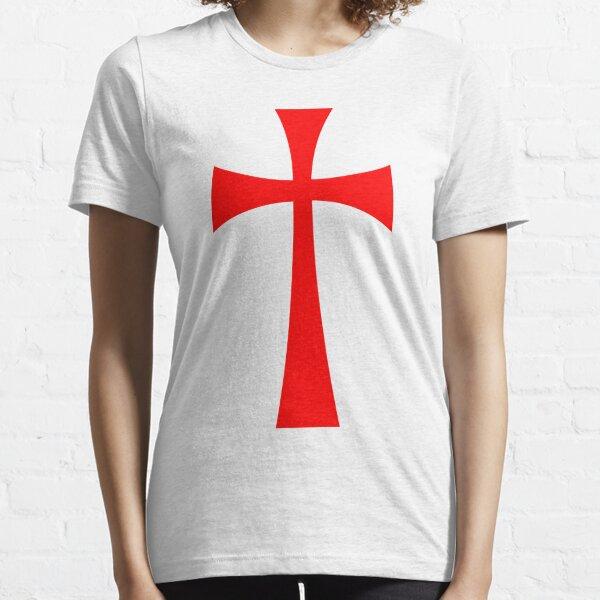 Long Cross - Knights Templar - Holy Grail - The Crusades Essential T-Shirt