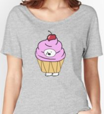 Ice Bear likes Cupcakes Women's Relaxed Fit T-Shirt