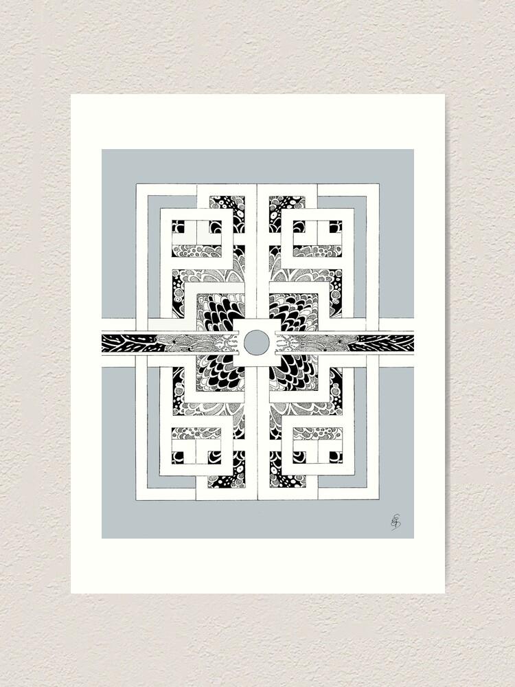 Alternative Ansicht von The other way around in silver Kunstdruck