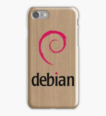 Debian white oak color wood texture iPhone Case/Skin