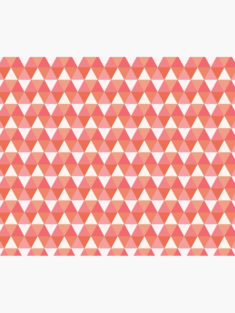 Colorful Pink Triangle Pattern by DonCorgi