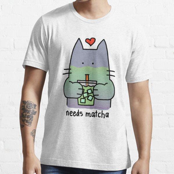 Iced Matcha Cat Essential T-Shirt