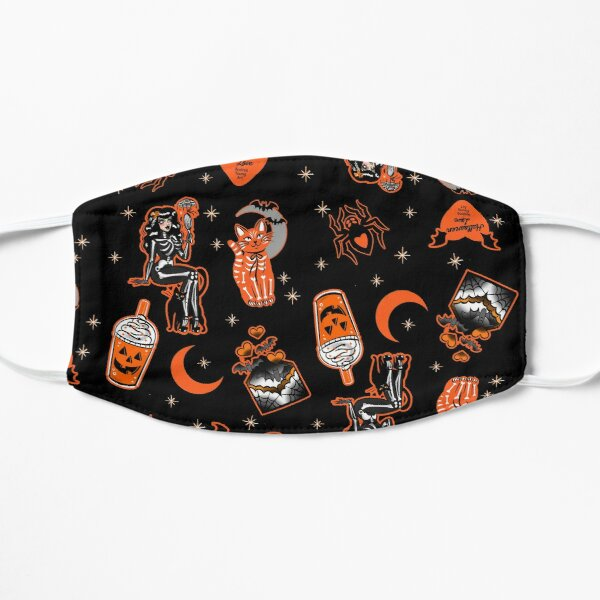 Halloween Love Pattern Flat Mask