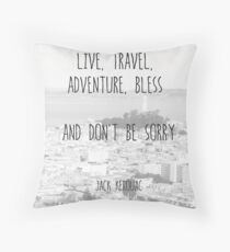 Live, Travel - by Jack Kerouac Throw Pillow
