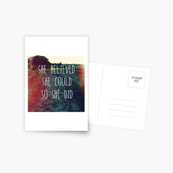 She Believed Postcard