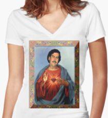 Saint Pablo Escobar Women's Fitted V-Neck T-Shirt