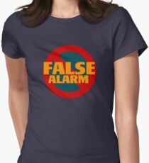 False Alarm Women's Fitted T-Shirt