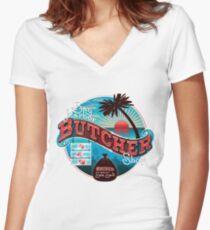 Bay Harbor Butcher Shop Women's Fitted V-Neck T-Shirt