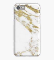 Gold vein marble iPhone Case/Skin
