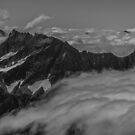 Clouds Above the Cascades by Shari Galiardi