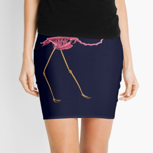 Flamingo Bones Showing Colors Mini Skirt