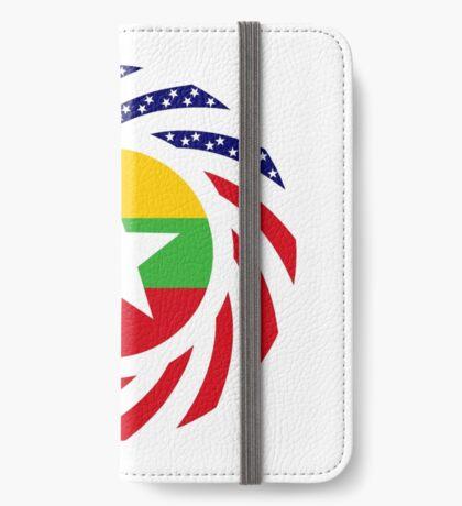 Myanmar American Multinational Patriot Flag Series iPhone Wallet