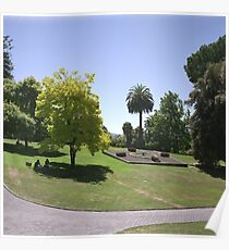 Flower Clock and Lawns, Hobart Botanical Gardens Poster
