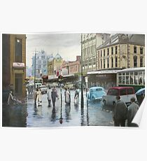 Rainy Day, Hobart, Tasmania (circa 1957) Poster