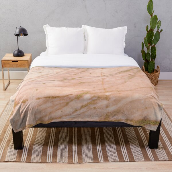 Gold veined red marble Throw Blanket