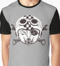 Vintage wolf motorcycle logo Graphic T-Shirt