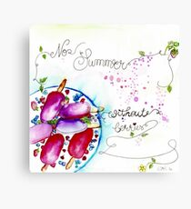 No Summer Without Berries Canvas Print