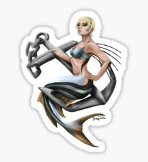 Roosterfish Mermaid Sticker