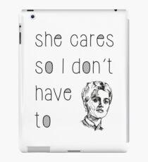 She Cares iPad Case/Skin