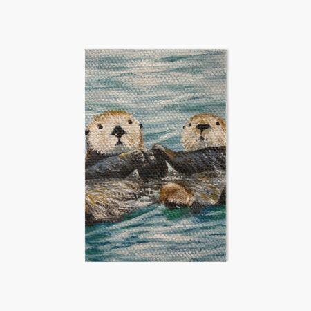 Otterly In Love Art Board Print