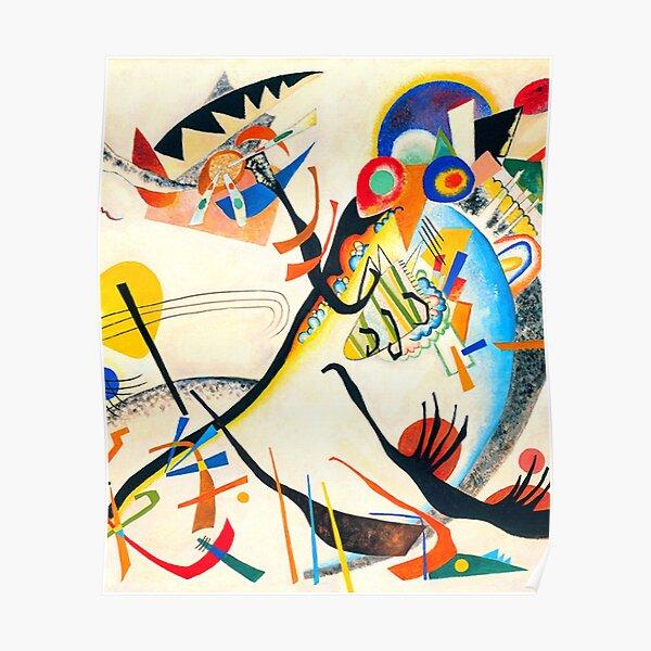 HD Kandinsky Blue Segment Popular Painting Poster