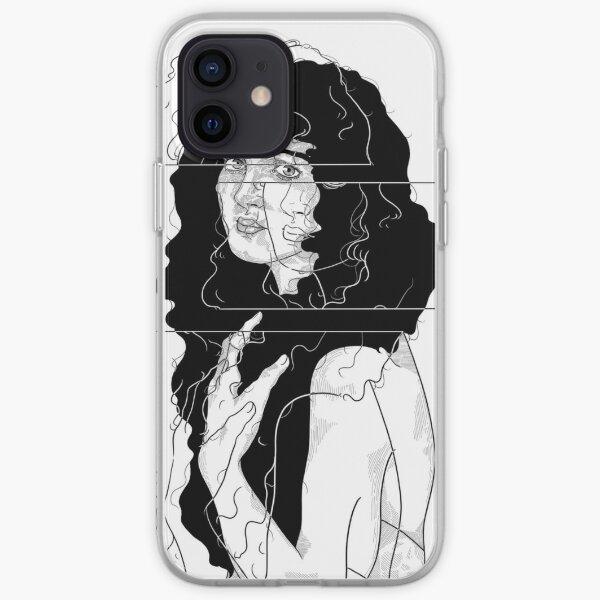 glitch girl art iPhone Soft Case