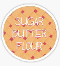 Sugar, Butter, Flour Sticker