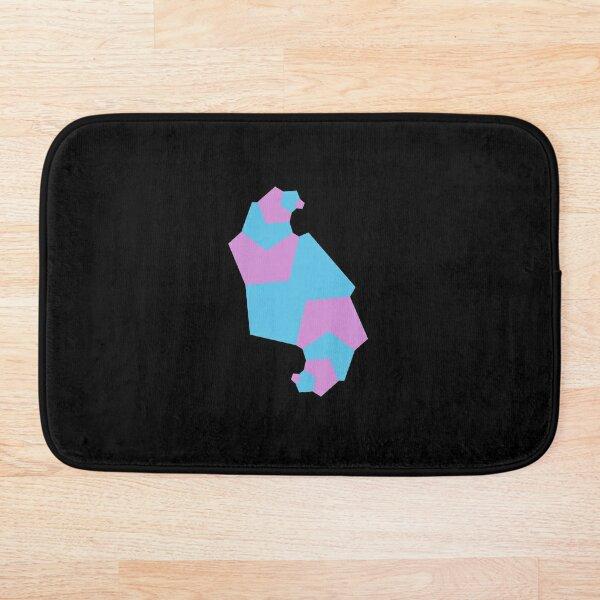 Geometric shapes flow - blue and purple Bath Mat