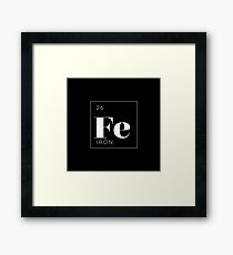 Periodic Table // Iron Framed Print