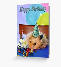 Birthday Hamster Greeting Card