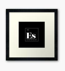Periodic Table // Einsteinium Framed Print