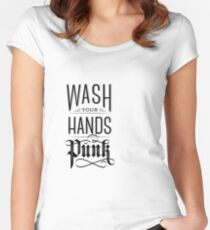 Wash Your Hands Punk Women's Fitted Scoop T-Shirt