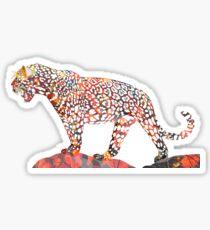 Pegatina Colorido Jaguar