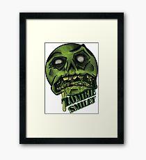Zombie Smiley  Framed Print